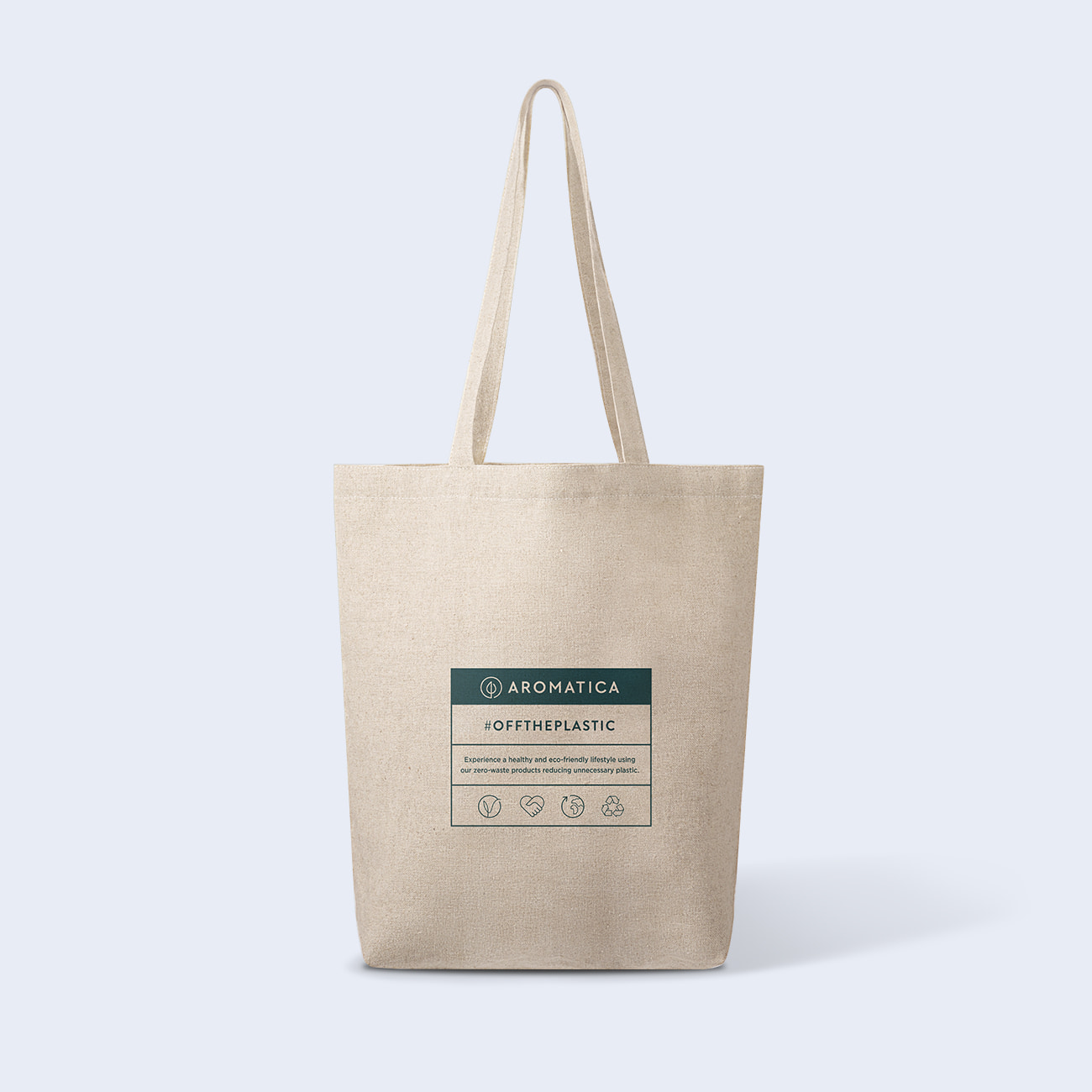 AROMATICA Zero Waste Hemp Shoulder Bag